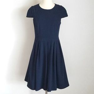 NWOT Badgley Mischka Pleated Fit & Flare Dress
